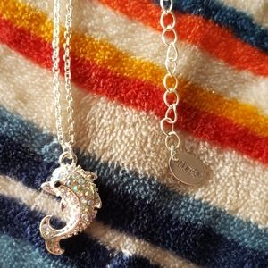 Claire's bling dolphin necklace